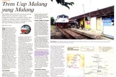 Trem Uap Malang yang Malang