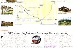 Jalur W Poros Angkutan ke Lumbung Beras Karawang